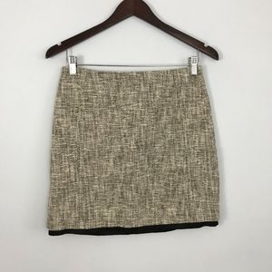 LOFT Tweed Mini Skirt Contrast Lining - Size 0